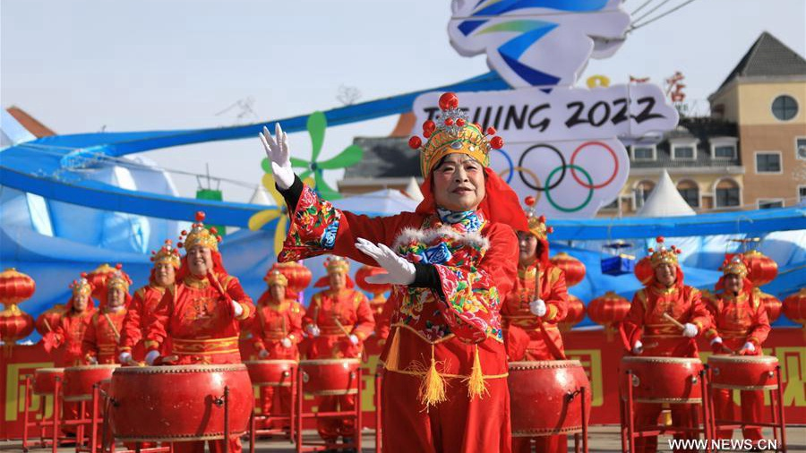 Yangge dance performance in Hebei