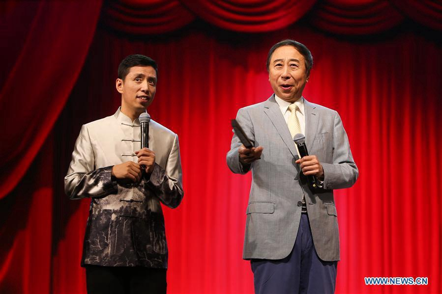 100th anniv. of birth of Chinese crosstalk master show in Beijing
